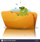 ilustracion-de-una-divertida-caricatura-gusano-virus-troyano-personaje-de-icono-de-comer-simbolizando-la-carpeta-de-datos-de-spyware-malw