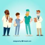 conjunto-estilo-doctores-dibujos-animados_23-2147653466