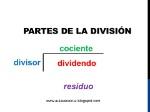Partes de la división. Imagen