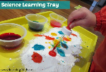 Science-Learning-Tray-Exploring-Bir-Carbonate-Soda-and-Vinegar-with-colour