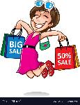cartoon-happy-shopper-girl-vector-13234074