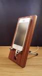 wooden phone holder