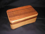 curved edge wooden box