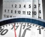 10455230-Plazos-y-calendarios-de-acontecimientos-y-fechas-importantes-representadas-por-un-calendario-y-un-re-Foto-de-archivo
