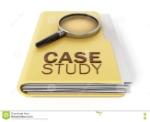texto-del-estudio-de-caso-debajo-de-la-lupa-ilustración-d-72387930