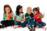 Four-children-reading-1