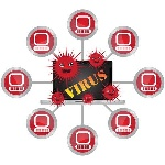 30766048-computer-virus-and-network-security-concept-present-by-computer-laptop-with-red-virus-and-yellow-vir