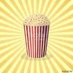vector image of pop corn