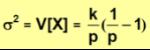Media y varianza para la distribución binomial negativa_varianza