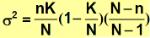 media y varianza distribucion hipergeometrica_varianza