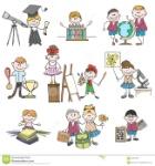 dibujos-del-garabato-de-las-aficiones-de-los-niños-65407693