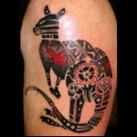 Black-And-Grey-Kangaroo-Aboriginal-Tattoo