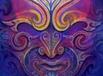 Magician-Ta-Moko-Maori-Tattoo-Whakairo-Maori-Carvings-Paintings-Maori-art-in-Waitomo-New-Zealand