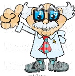 scientist-clipart-clip-art-of-a-senior-scientist-or-professor-holding-a-thumb-up-by-dennis-holmes-designs-1508