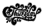 105098958-thursday-abstract-lettering-for-card-invitation-t-shirt-poster-banner-placard-diary-album-sketch-boo