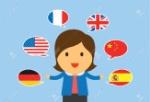 37057912-una-mujer-puede-hablar-varios-idiomas-en-la-versión-plana-de-dibujos-animados