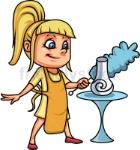 1-blonde-little-girl-dusting-cartoon-clipart