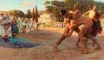 Pankratiasts-fighting