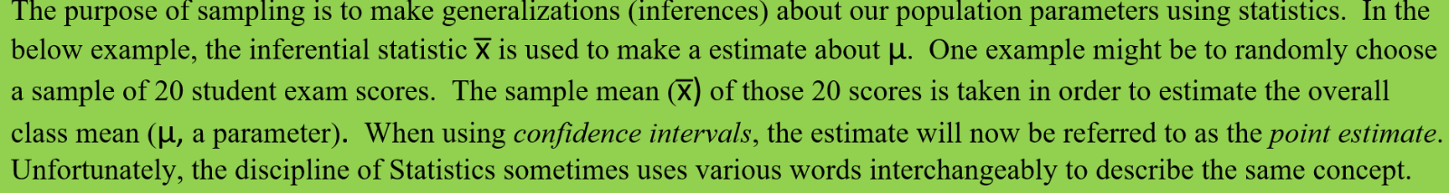 Inference Theory