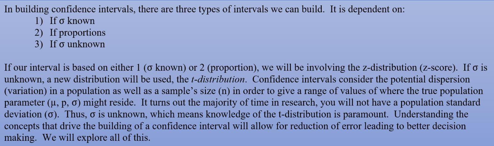 consideration in buildind CI