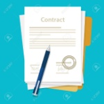 48408744-signed-paper-deal-contract-icon-agreement-pen-on-desk-flat-business-illustration-vector-drawing