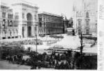 Maggio 1898, Moti del 1898 a Milano. Piazza del Duomo alla partenza dei soldati
