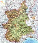 Piemonte cartina fisica