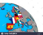 schengen-area-members-with-embedded-national-flags-on-simple-blue-political-3d-globe-3d-illustration-R0BGRB
