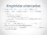 Empiricist+orientation