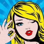 51210067-pop-art-woman-winks
