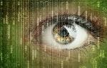 eye in digital code