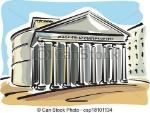 pantheon-roma-vettori-eps_csp18101134