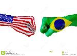 les-etats-unis-et-drapeau-du-brésil-combat-de-concept-concurrence-d-affaires-conflit-ou-manifestations-sportives-91069091
