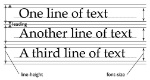 lineas del texto