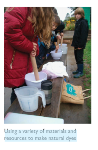 history outdoor learning - making dye