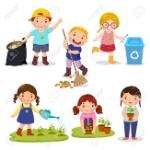 74350708-conjunto-de-niños-lindos-voluntarios-salvar-la-tierra-reciclaje-de-residuos-las-niñas-plantaron-y-regar-árbo