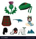 national-symbols-of-scotland-scottish-attractions-vector-17253464