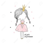 90679811-cute-little-princess-girl-fashion-illustration-for-kids-clothing-use-for-print-design-surface-design
