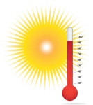 Thermometer-and-sun-heat