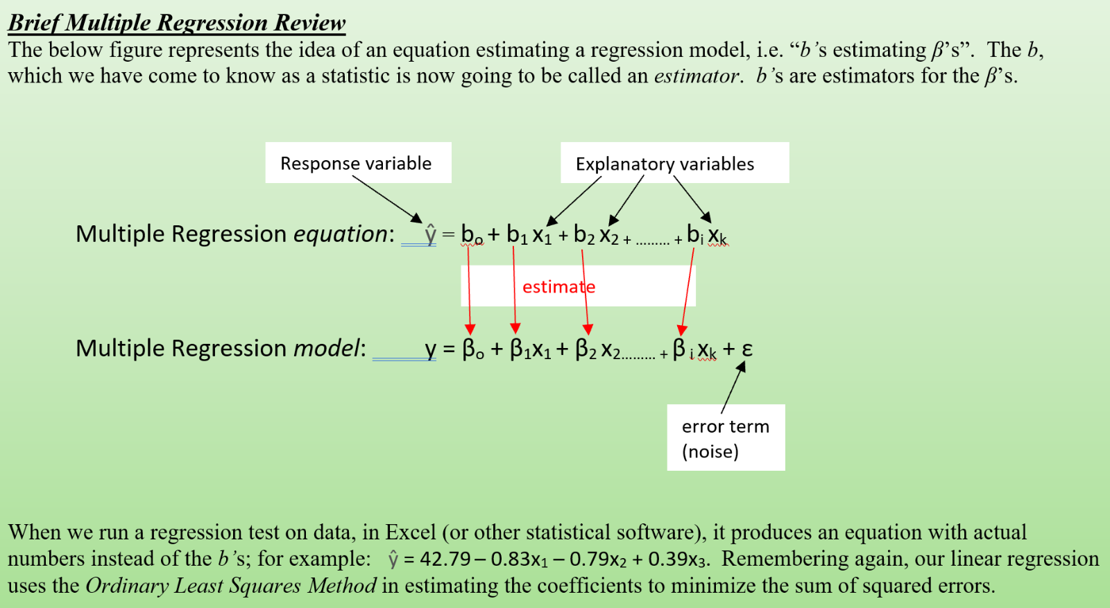 regression review