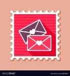 two-envelope-stamp-love-letter-vector-19878879