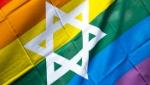 rainbow flag with star of david