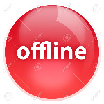 3814715-the-offline-red-button-with-highlight-isolated