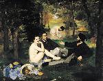 1863エドゥアール・マネ「草上の昼食(水浴)」印象派