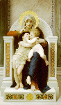 1875ウィリアム・アドルフ・ブグロー「The Virgin, Jesus & Saint John Baptist」アカデミー絵画
