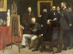 1870アンリ・ファンタン=ラトゥール「バティニョールのアトリエ」