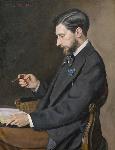1869フレデリック・バジール「エドモン・メートルの肖像」