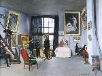 1870フレデリック・バジール「バジールのアトリエ(ラ・コンダミンヌ通り)」