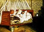 1865フレデリック・バジール「病床のモネ」印象派