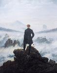 1818カスパー・ダーヴィト・フリードリヒ「雲海の上の旅人」ロマン主義
